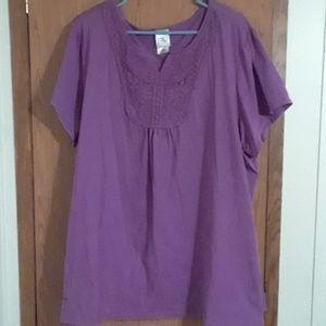 Blouse short sleeve Just My Size 4x Purple